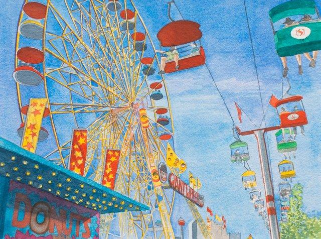 """Laura Pope, """"Ferris Wheel,"""" 2021"""
