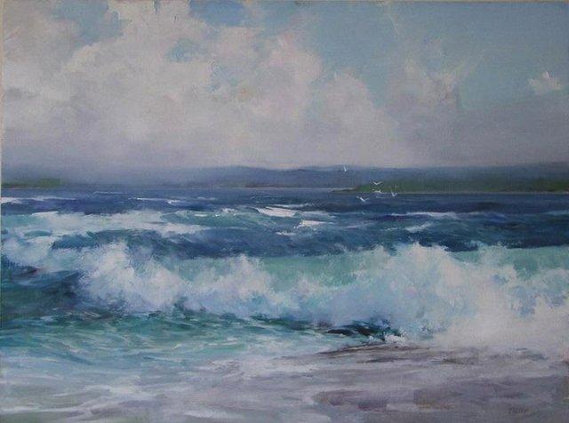 """Deborah Tilby, """"Winter Waves,"""" 2021"""