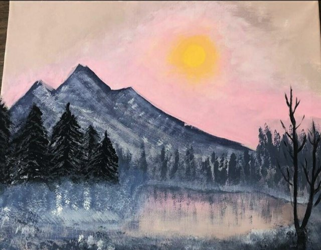 """Taylor Withage, """"Dusk Over the Mountains,"""" 2021"""