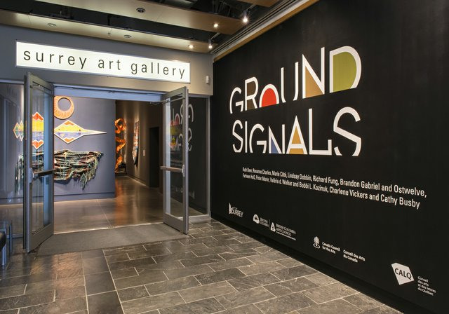 Entrance to Surrey Art Gallery and Ground Signals exhibit. (photo by SITE Photography)