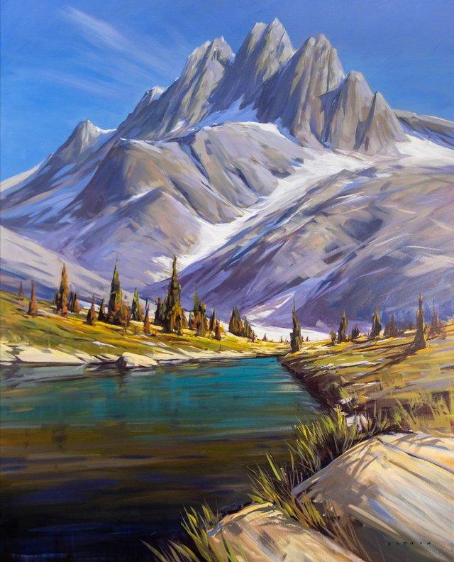 "Charlie Easton, ""Bugaboos Alpine Lake,"" 2020"