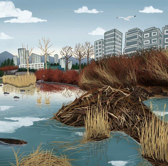 "Nicole Neidhardt, ""Nu chexw kw'átchnexw kwétsi sḵel̓áw̓?// Can you See Beaver?,"" 2021"