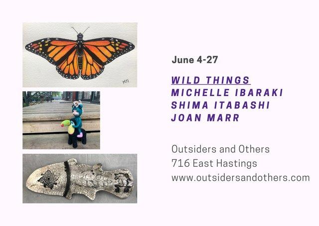"Michelle Ibaraki, Shima Itabashi, and Joan Marr, ""Wild Things,"" 2021"