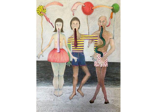"Diana Thorneycroft, ""Beach Party,"" 2021"