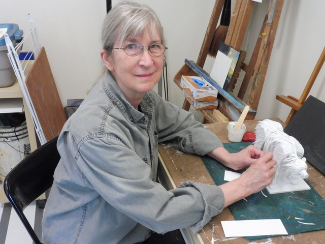 "Linda Leon, ""Artists in the Window, Yukon Artists @ Work,"" 2021"