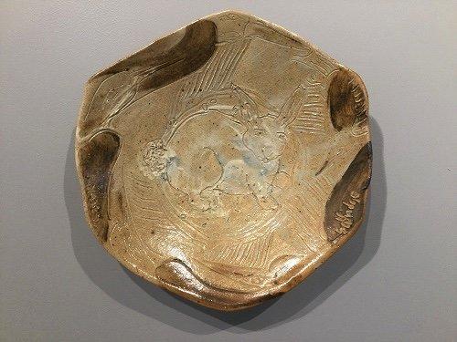 "Carol and Richard Selfridge, ""Rabbit Wall Plate,"" c. 1980s"