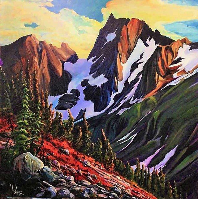"Heather Pant, ""Cascade Mountain,"" 2021"
