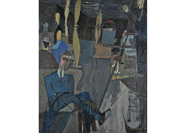 "Molly Lamb Bobak, ""North Vancouver Ferry,"" 1950"