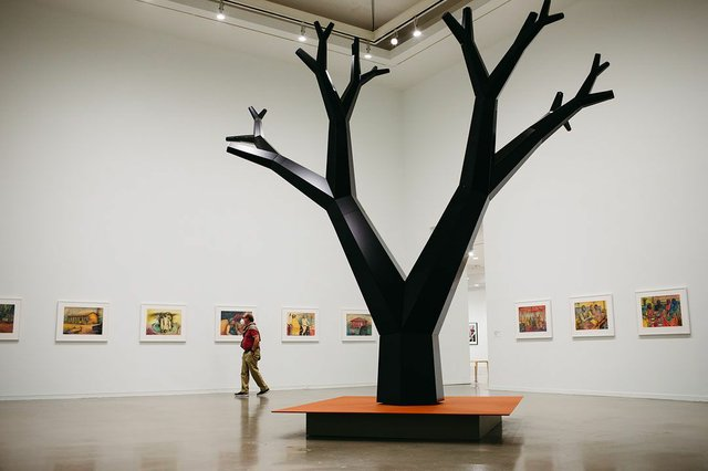 """Installation view of Charles Campbell, """"Tree: Finding Accompong,"""" 2021"""
