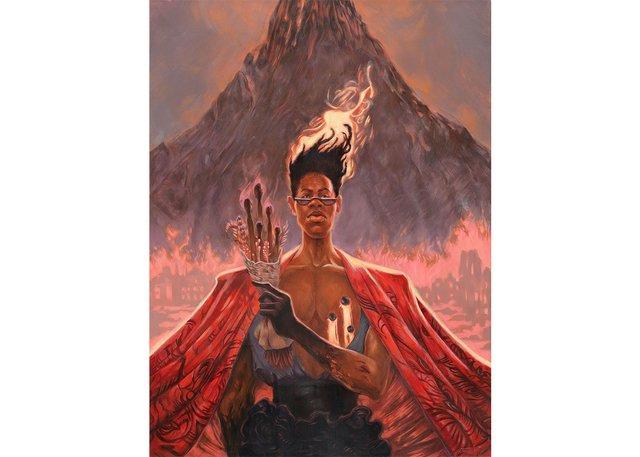 """Odera Igbokwe, """"The Volcano,"""" 2021"""