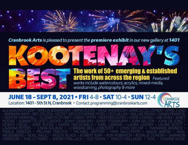 "Colleen Osiowy, Cranbrook Arts, ""Kootenay's Best Poster 2021"""