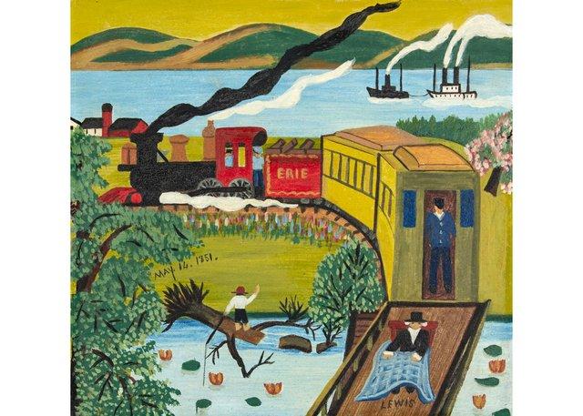 "Maud Lewis,""Eerie Train,"" circa 1949 /1950"