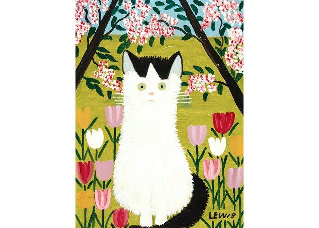 "Maud Lewis,""Black and White Cat,""1962"