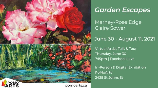 """Marney-Rose Edge and Claire Sower, """"Garden Escapes,"""" 2021"""