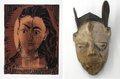 """Left: Pablo Picasso, """"Portrait de Jacqueline en robe Imprimée,"""" 1962,"""