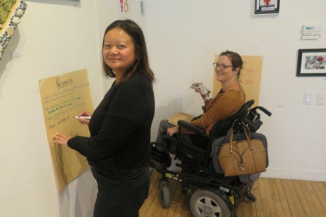 MAWA mentors Leslie Supnet (left) and Yvette Cenerini.