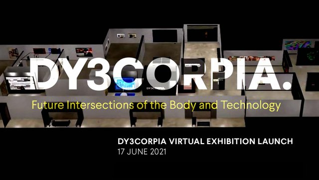 """Joshua James Tokarsky, """"DY3CORPIA virtual galleries view from above,"""" 2021"""
