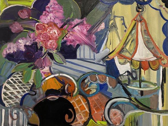 """Eileen Murray, """"Through the garden gates,"""" 2020"""