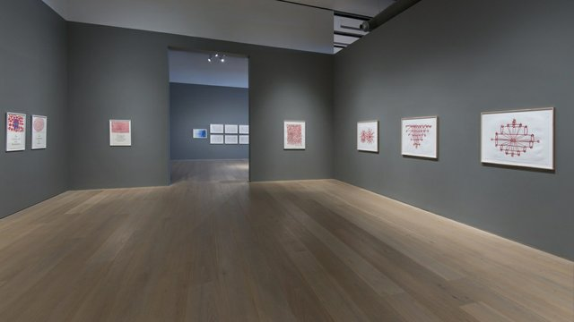 """Installation view of the exhibition """"Louise Bourgeois: What is The Shape of This Problem."""" (photo by John Dean)"""
