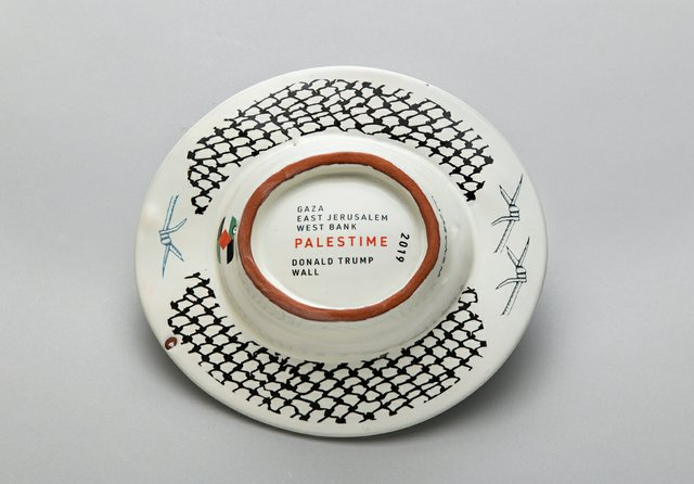 """Walter Ostrom, Back side, """"The Lady Macbeth Commemorative Soap Dish Series III, Occupied (Be A Host),"""" 2019"""