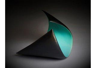 "Sandra Ledingham, ""Turquoise Curved Plane,"" no date"