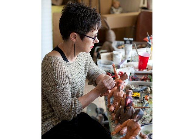 Diana Thorneycroft works in her studio. (courtesy of artist)