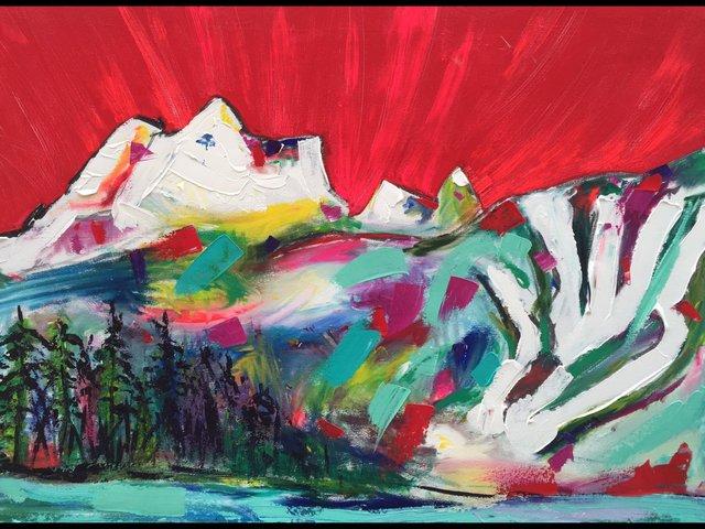 """The Big North Art, """"Monashee Sunset,"""" 2021"""