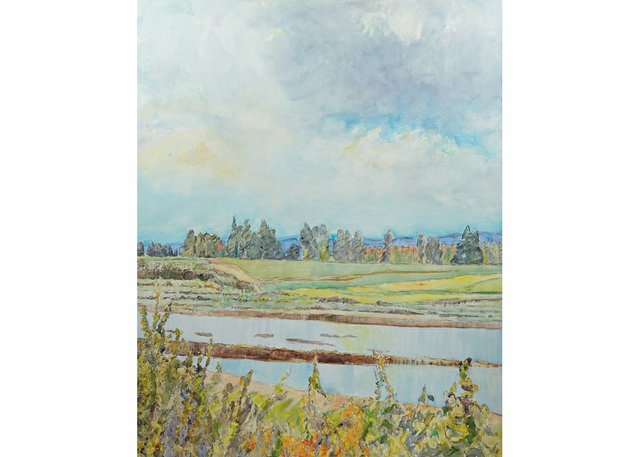 """Dorothy Knowles' 1986 painting """"Bright Weeds"""" sold last year at auction."""