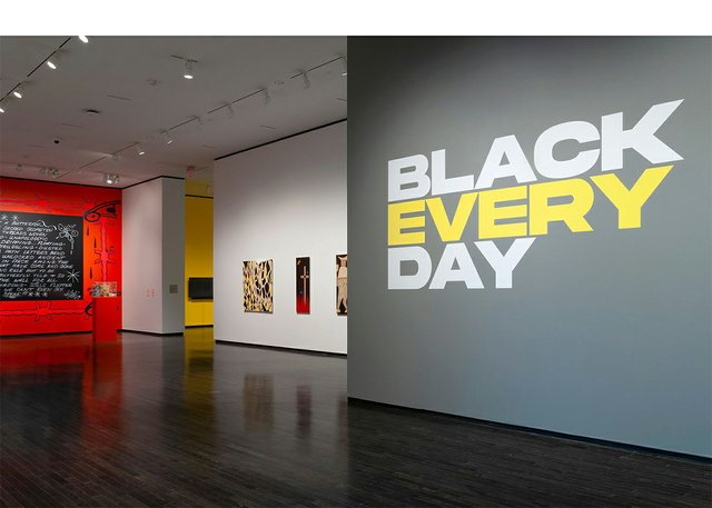 """Installation view of """"Black Every Day,"""" 2021"""