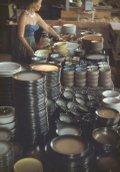"Edith, ""Heath arranging dinnerware at the factory,"" c. 1955"