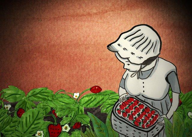 """Cindy Mochizuki, """"Autumn Strawberry,"""" 2021"""