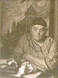 "Harold Mortimer Lamb, ""Emily Carr in her studio,"" c.1939"