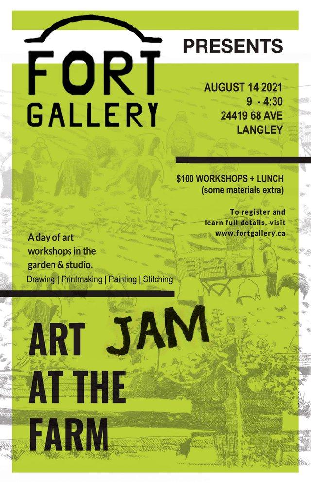 "Edith Krause, ""Art Jam Poster."" 2021"