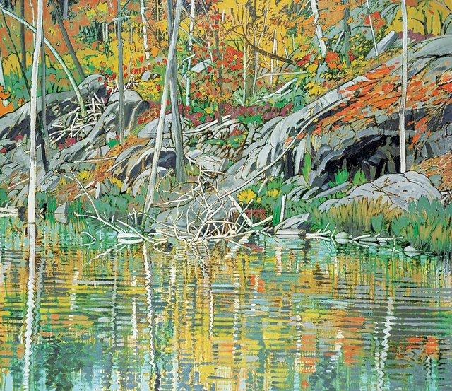 """Edward William (Ted) Godwin, """"Autumn's Gold,"""" circa 1978-84"""