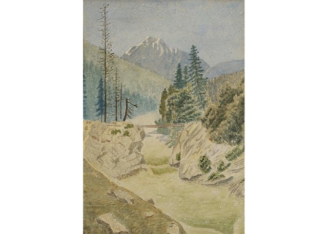 "Emily Carr, ""Beaver Canon"" (sic), 1886"