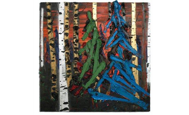 "Kim Dorland, ""Green Tree Blue Tree,"" 2009"