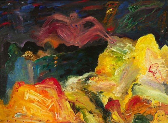 "John Hartman, ""Dorset, Night Figure,"" 1989-90"