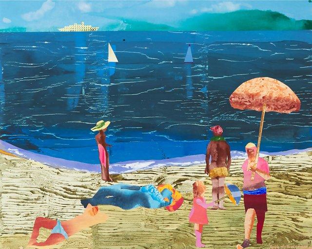 "Louis de Niverville, ""A Long Day at the Beach,"" 1996"