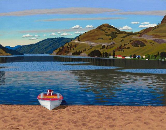 """Edward John Hughes, """"The Beach at Kalamalka Lake,"""" 1962"""
