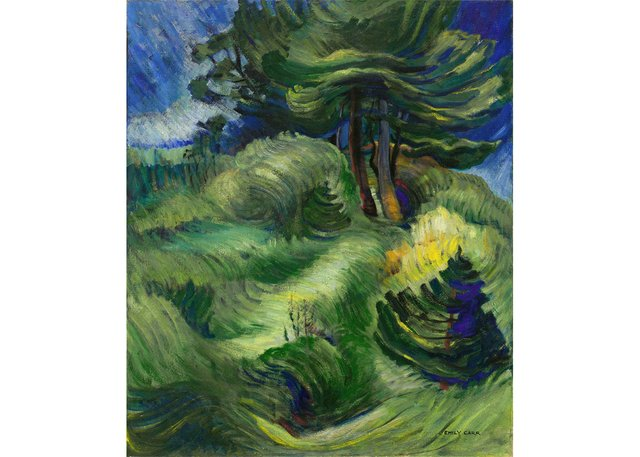 """Emily Carr, """"Tossed by the Wind,"""" 1939"""
