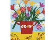 """Maud Lewis, """"Flowers in Red Pot,"""" no date"""