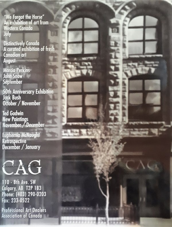 Canadian Art Galleries in Calgary in 1995. (courtesy Douglas Maclean)