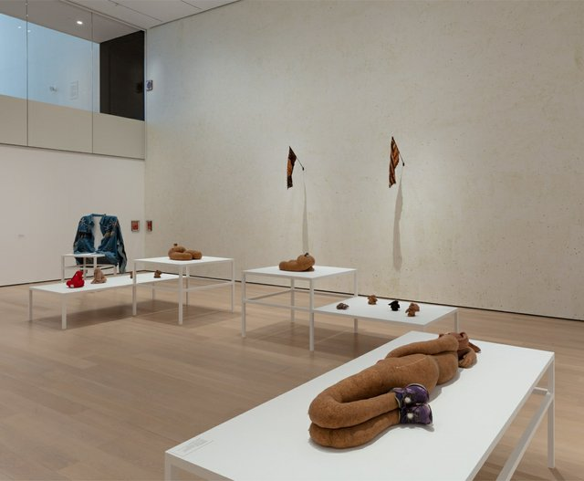 """Installation view of the exhibition """"Projects: Gabrielle L'Hirondelle Hill,"""" at the Museum of Modern Art in New York from April 24, 2021 to Aug. 15, 2021 (photo by Denis Doorly)"""