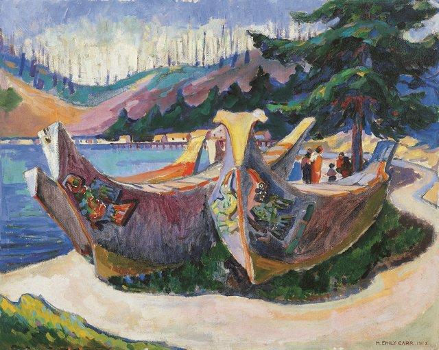 "Emily Carr, ""War Canoes, Alert Bay,"" 1912"