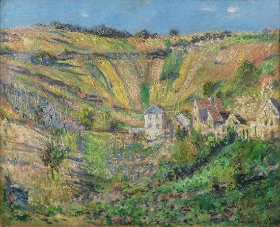 """Claude Monet, """"Le Village de Haute-Isle,"""" 1880"""