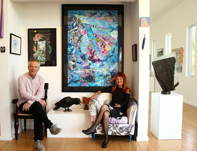Headbones Gallery owners Julie Oakes and Richard Fogarty. (photo courtesy Headbones Gallery)