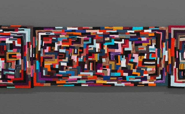 """Installation view of a section of Jan Wade's """"Breathe,"""" 2009-20"""