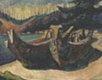 """War Canoes, Alert Bay"""