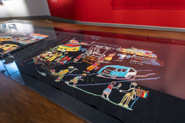 """Intuthuko Embroidery Project,""""Apartheid Embroidery Series,"""" 2010-2011"""