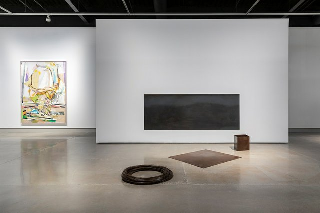 """Catherine Burgess, """"Things as They Are: October 10, 1994,"""" 1994 (right) and Ryan Sluggett, """"Egg in Cup,"""" 2013, installation view in """"Everywhere We Are"""" at Contemporary Calgary (courtesy of Contemporary Calgary; photo by Gerard Yunker)"""